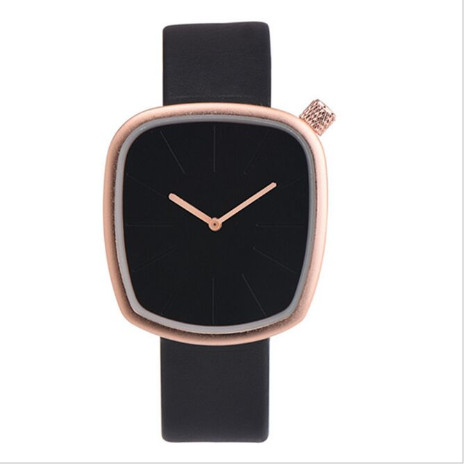 цены OKTIMEN Quartz Brand Lady Watches Women Luxury Rose Gold Antique Square Casual Leather Dress Wrist watch Relogio Feminino Montre