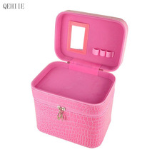 High-end PU Cosmetic Case Large-capacity Travel Portable Storage Makeup Bag Organizer Cosmetologist Professional  Makeup Case
