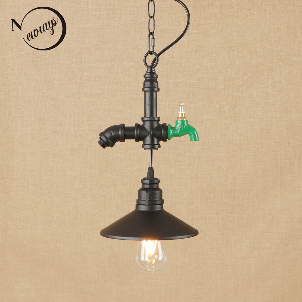 vintage lron painted hanging lamp LED lamp Pendant Light Fixture E27 110V 220V For Kitchen Lights loft decor/dining room/hotel