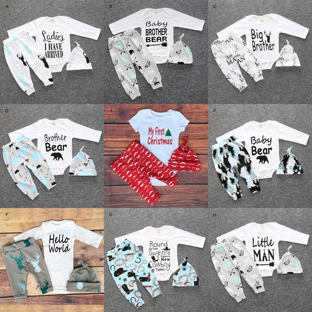 Beroemd Kerst Mijn Eerste Verjaardag Outfits Voor Baby Jongen Meisje Set @YD85