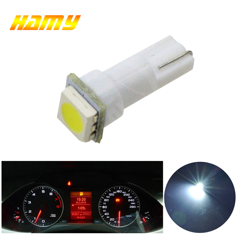 1x Car Interior Light LED T5 1 SMD Dashboard Wedge led auto Light Bulb Lamp Red Blue Green Blue White 12V 1smd Instrument 5050 цена