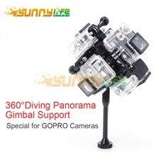 Gopro hero 3 +/4การถ่ายภาพวิดีโอมืออาชีพvr 360องศาพาโนรามา3d g imbalสนับสนุนผู้ถือกล้องดำน้ำยึดกันน้ำ