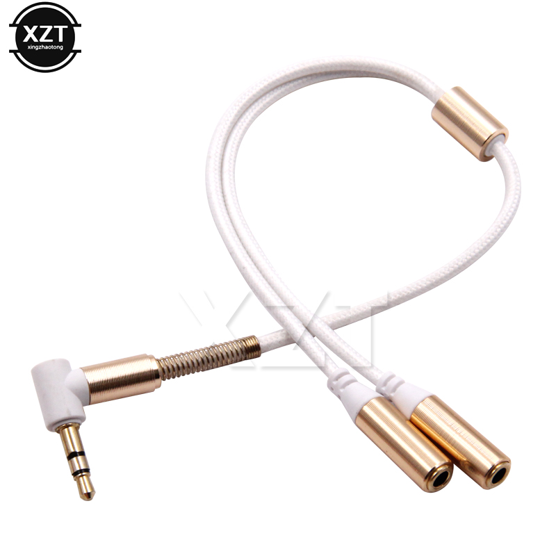 Image 3 - 1PCS 3.5mm 1 To 2 Dual Y Audio Headset Jack Splitter Share Cable Adapter Golden Connector Earpiece for Earphone Headphone-in Earphone Accessories from Consumer Electronics