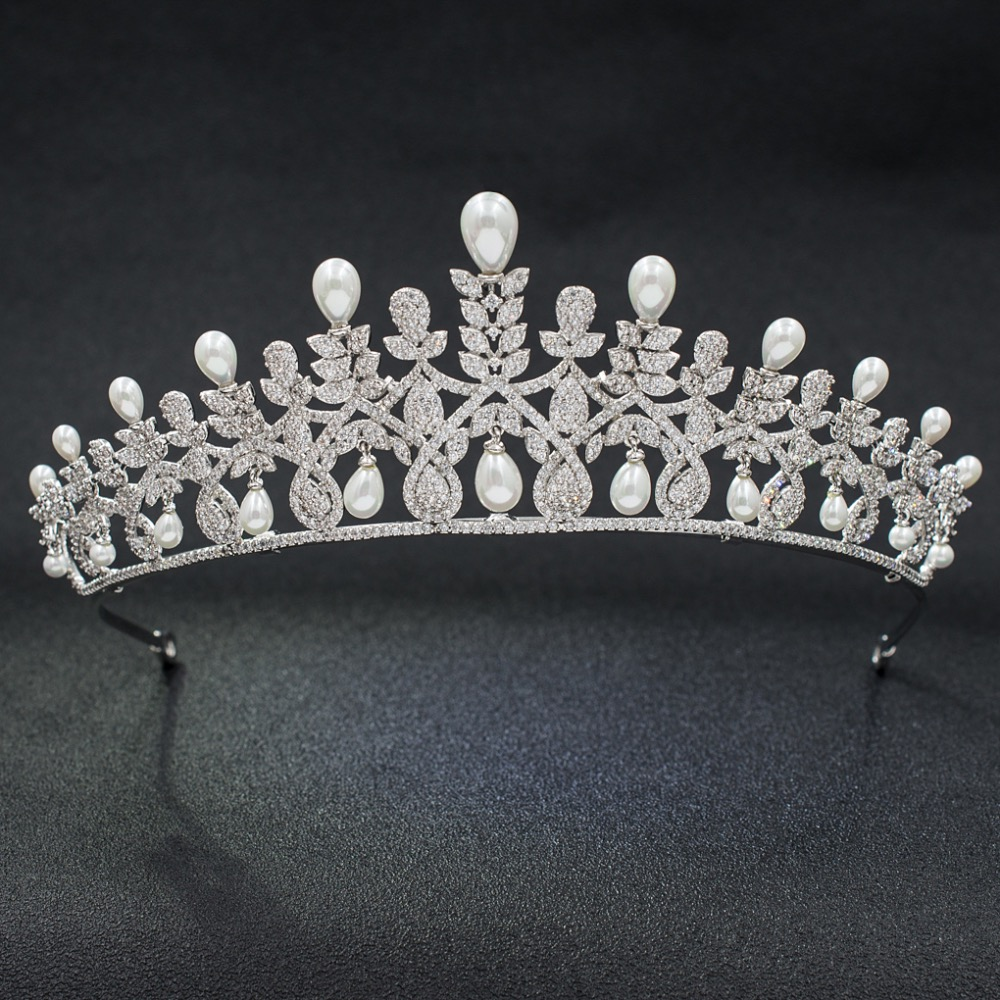Full 5A CZ Cubic Zirconia Classic Wedding Bridal Royal Tiara Diadem Crown Women Girl Prom Party Hair Jewelry Accessories A00017Full 5A CZ Cubic Zirconia Classic Wedding Bridal Royal Tiara Diadem Crown Women Girl Prom Party Hair Jewelry Accessories A00017