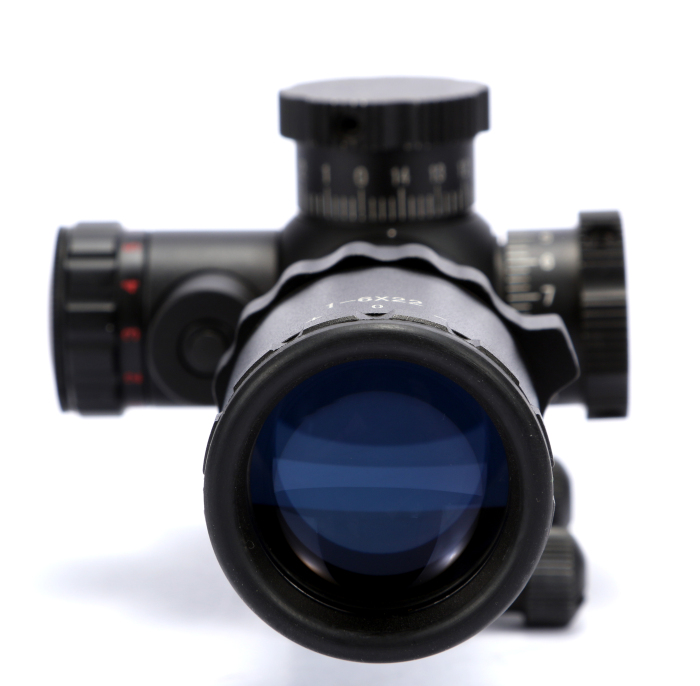Tactical Optical Gun Rifle Scope For Hunting 1-6x22 Side Wheel Illuminated Red Laser Scope Airsoft Riflescope 2017 new 1 6 1 6 12 action figures g43 sinper rifle tactical gun christmas gift free shipping boy toy birthday present