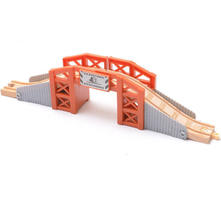 Christmas Gift Beech Thoma Modern Bridge fit For Thomas and Brio Wooden Train Educational Boy/ Kids Toy Multiple track