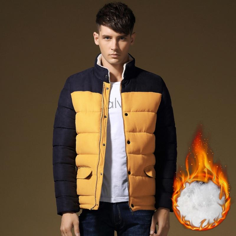 ФОТО 2016 New Autumn Winter Jacket Men Wadded Coats Fashion Outerwear Casual Cotton Coats Men's Jackets Male M-4XL Y1115-88E