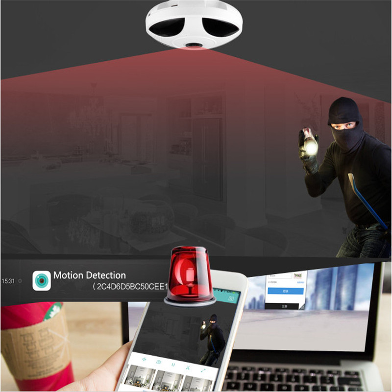 360HD Security Mini VR Camera WIFI panoramic Fisheye Home Security Surveillance 1080P IP Camera video Night Vision Two-way Audio