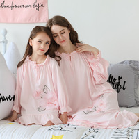 Summer\autumn Girls Nightgowns Children Cotton Long Sleeve Costume Fille Clothing girls nightdress Korean Style Casual