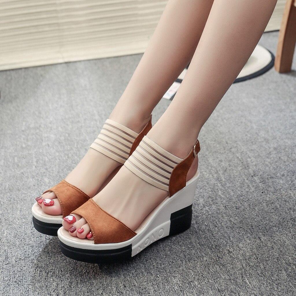 HTB1vnplatfvK1RjSspfq6zzXFXaJ new fashion Wedge women Shoes Casual Belt Buckle High Heel Shoes Fish Mouth Sandals 2019 luxury sandal women buty damskie