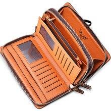 2018 Genuine Leather Clutch Wallet