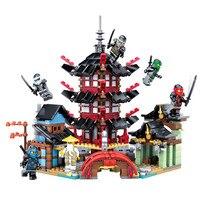 737pcs Ninja Movie Series Architecture Pagoda Temple Building Blocks Bricks Toys Compatible With LegoINGly NinjagoINGlys