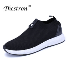 Thestron Cheap Mans Sport Shoes Fashion Brand Athletic Sneakers Slip-On Male Spring Summer Jogging Black Mens