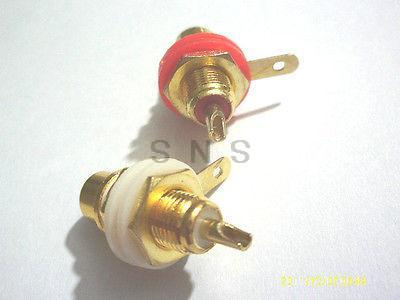 10 pcs Gold Plated RCA Jack Panel Mount Chassis Socket connector gold plated socket pixhawk px4 247