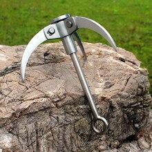 WOEN SUS304 весенний стальной открытый крюк выживания трехкулачковый альпинистский крюк спасательный Летающий Тигр Коготь скалолазание когти