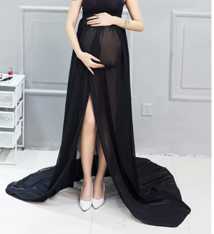 815852398 Nueva maternidad fotografía vestido Maxi mujeres embarazadas paño pijamas  camisón de encaje vestido de lujo bebé