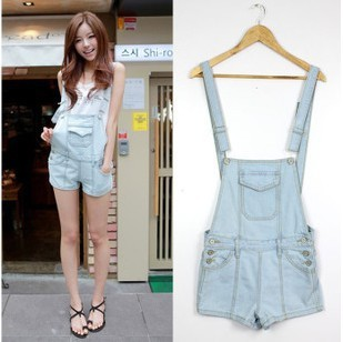 HOT!!New Fashion 2016 Summer Short Overalls S~XL Jeans Shorts Girl's Loose Casual Denim Overalls Hot Summer Pants Shorts Jeans