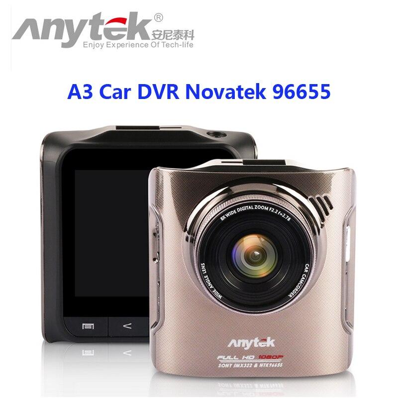 D'origine anytek a3 voiture dvr novatek 96655 voiture caméra avec sony IMX322 CMOS Super Nuit Vision Dash Cam Voiture DVR Boîte Noire