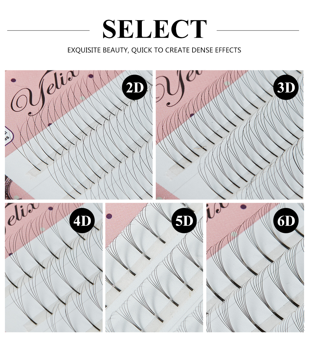 Image 3 - Yelix Russian Volume Eyelash Extensions 2D 3D 4D 5D 6D Premade Volume Fans Cluster Lashes False Eyelashes Cluster-in False Eyelashes from Beauty & Health