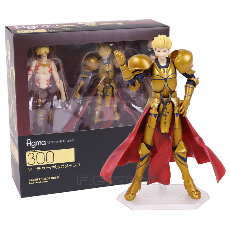 Fate Grand Order figma 300 Archer Gilgamesh PVC Action Figure Collectible Model Toy 15cm fate grand order anime saber jeanne gilgamesh e f g h i j series japanese rubber keychain