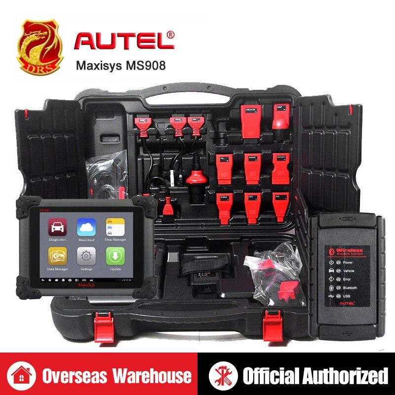 Autel Maxisys MS908 outil de diagnostic automobile Scanner Tous Les Systèmes Avancée ECU Programmation De Codage Clé Auto Lecteur de Code OBD Scanner