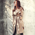 Plus Size 2016 New Spring Trench Coat For Women Fashion Women Raincoat With Belt Slim Outwear Women Coat Top Quality D195