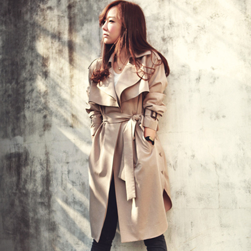 Plus Size 2018 New Spring   Trench   Coat For Women Fashion Women Raincoat With Belt Slim Outwear Women Coat Top Quality TR047