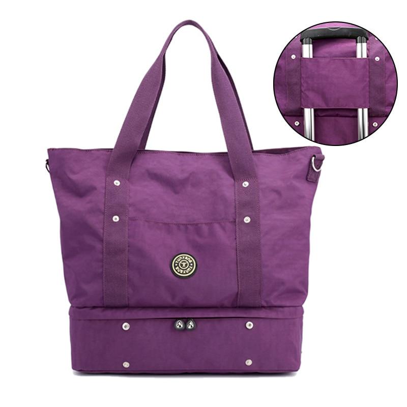 Fashion Nylon Traveling Bags Women Carry On Luggage Travel Tote Shoulder Bag Waterproof Large Capacity Weekend Hand Bag XA644WB