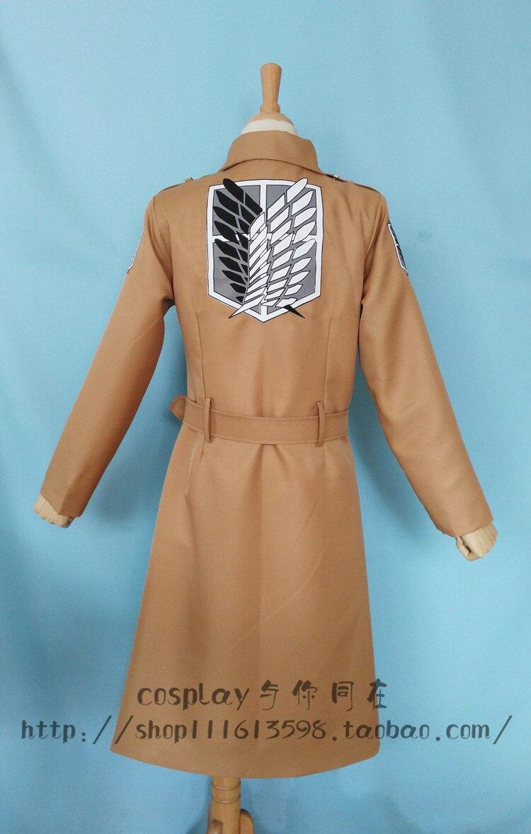 Anime Attack on Titan Cos Levi·Ackerman Dust Coat Wind Coat Cosplay Costume Tops