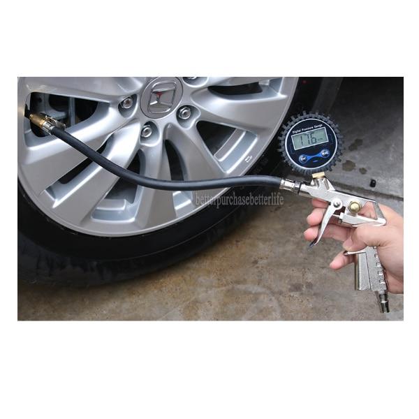 High Precision 0-200psi Digital Tire Pressure Gauge For Inflated Deflated Tire Repair Tools Pressur gun  цены