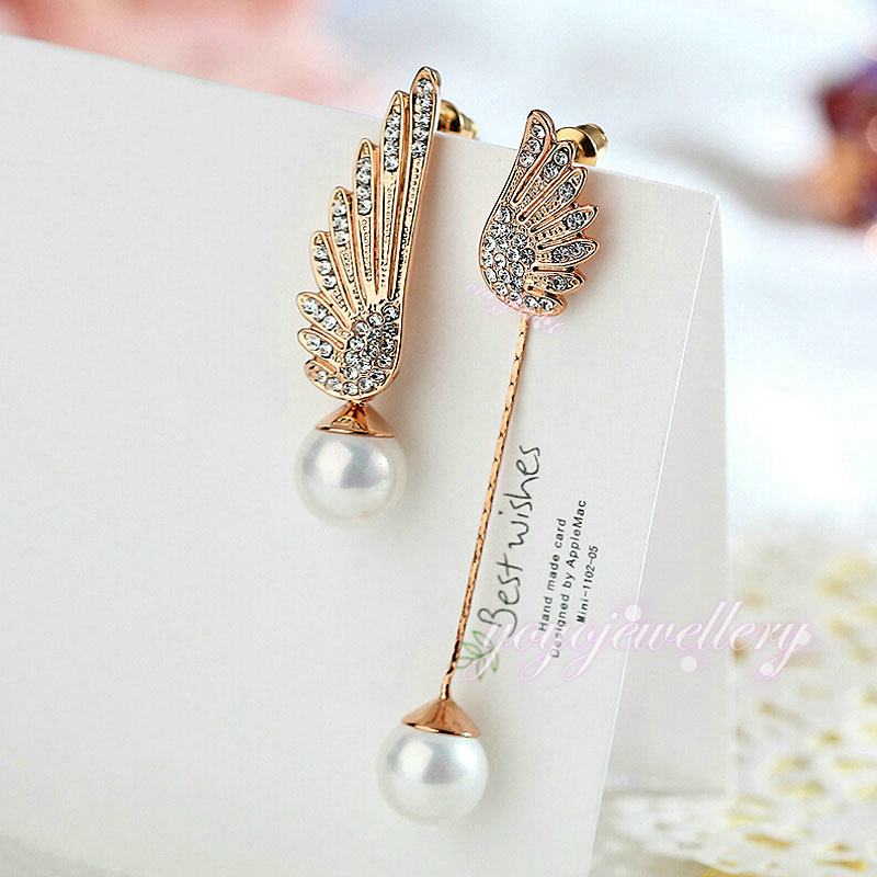 stud rose leaf cubic zirconia products dangles drops earrings collections plated style gold