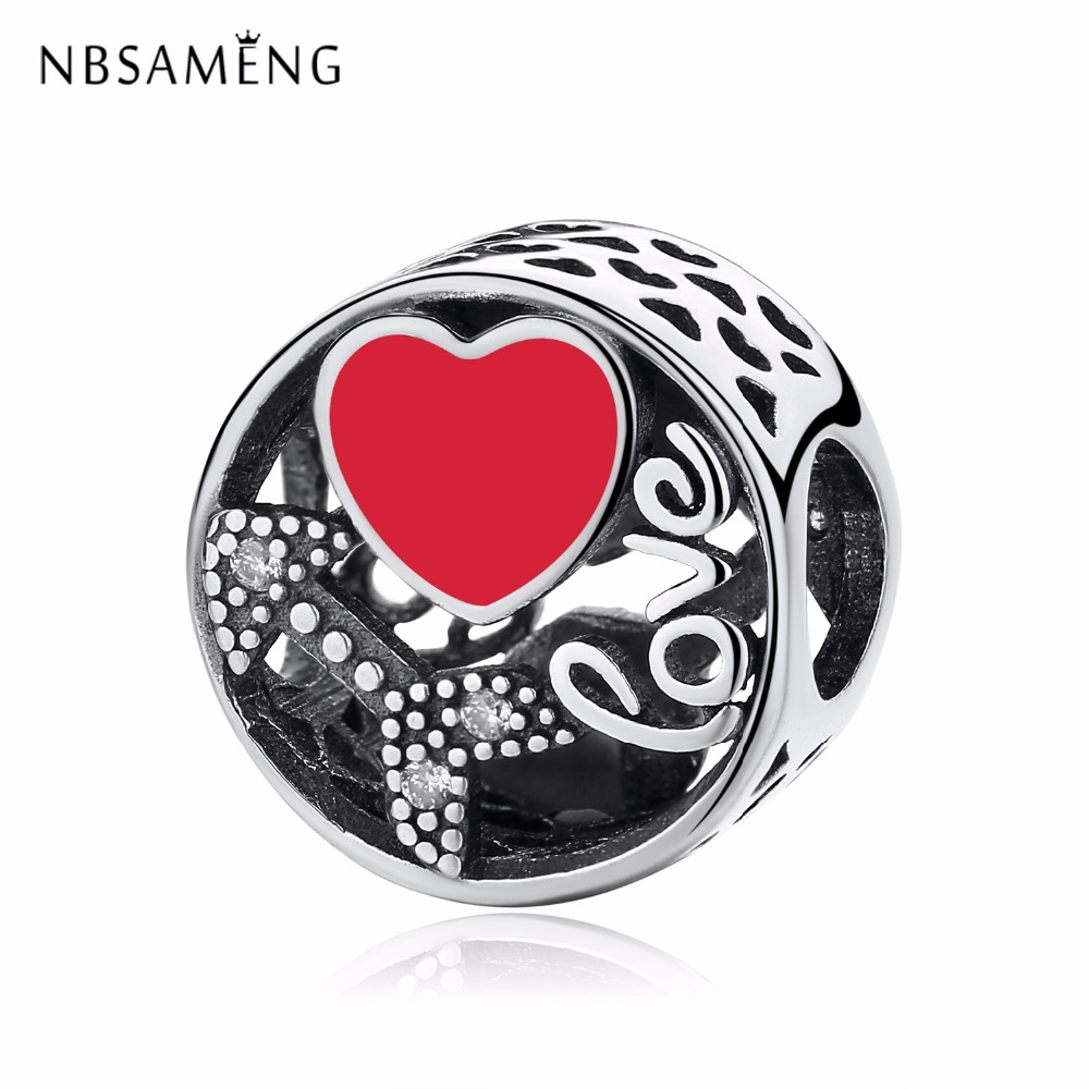 New Authentic 100% 925 Sterling Silver Charm Beads Struck By Love Charms Fit Original Pandora Bracelets Women DIY Jewelry Making