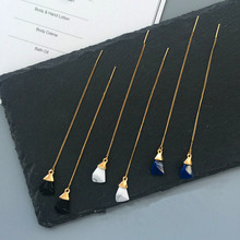 Fashionable woman artificial yakeli the surface stereo pendant line long dangler earrings earrings popular Christmas gifts