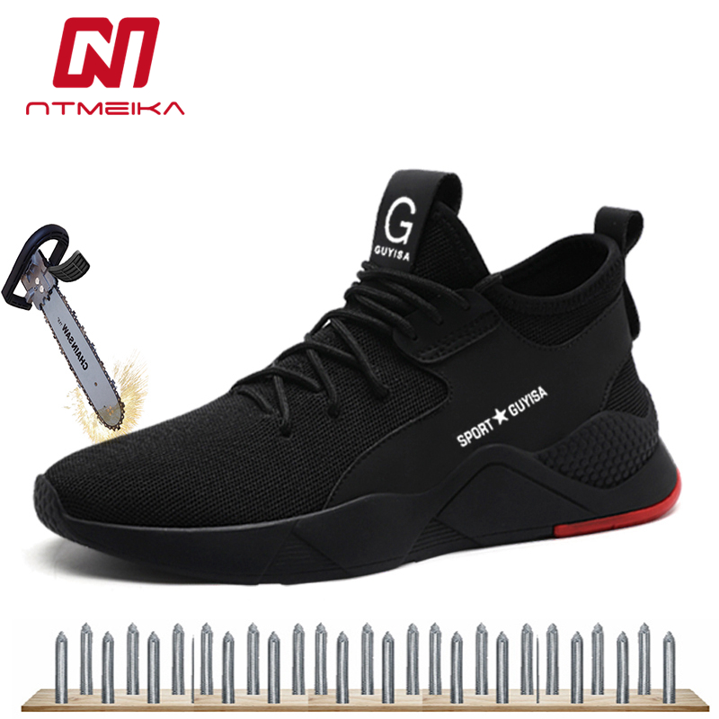 Amiable Mens Work Safety Shoes Steel Toe Breathable Outdoor Sneakers Puncture Proof Footwear Comfortable Industrial Shoes For Men Mb209 Complete In Specifications Men's Shoes