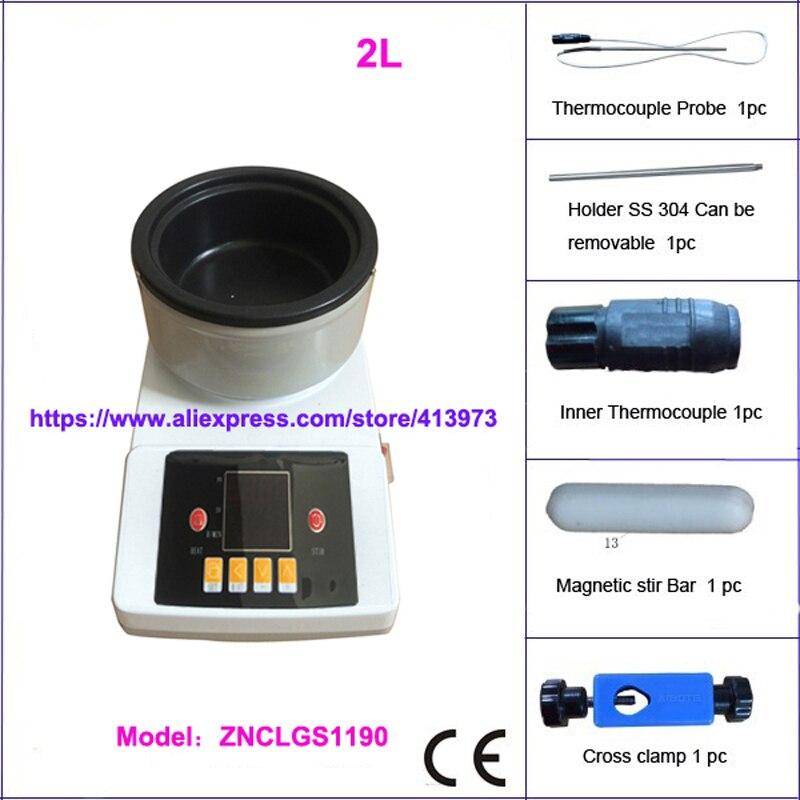Envío libre, 2l termostático digital Lab agitación aceite Bañeras/agua Bañeras
