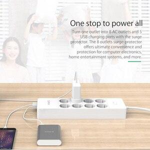 "Image 4 - ORICO כוח רצועת האיחוד האירופי ארה""ב בריטניה תקע חשמל שקע 8 מייצב מתח לשקע חשמל הרצועה עם 5x2.4A USB סופר מטען יציאות"