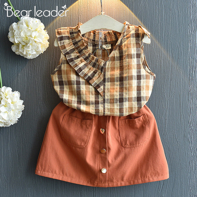Bear Leader 2019 New Summer Casual Children Sets Flowers Blue T-shirt+  Pants Girls Clothing Sets Kids Summer Suit For 3-7 Years 3