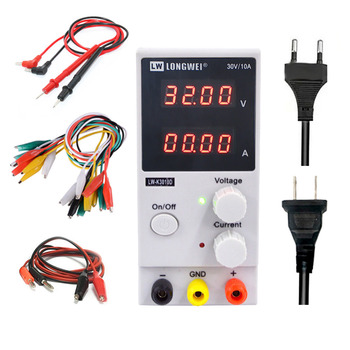 LW 3010D Laboratory Power Supply Adjustable Digital Lithium Battery Charging 30V 10A Switch DC Voltage Regulator - discount item  26% OFF Electrical Equipment & Supplies