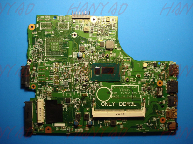 CN-0P34KX 0P34KX P34KX For DELL 3542 Laptop Motherboard 13269-1 PWB FX3MC With 3558u DDR3L 100% Tested