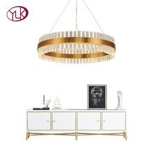 Youlaike moderne lustre en Cristal pour salon or LED Lustres De Cristal décoration De la maison suspendus luminaires