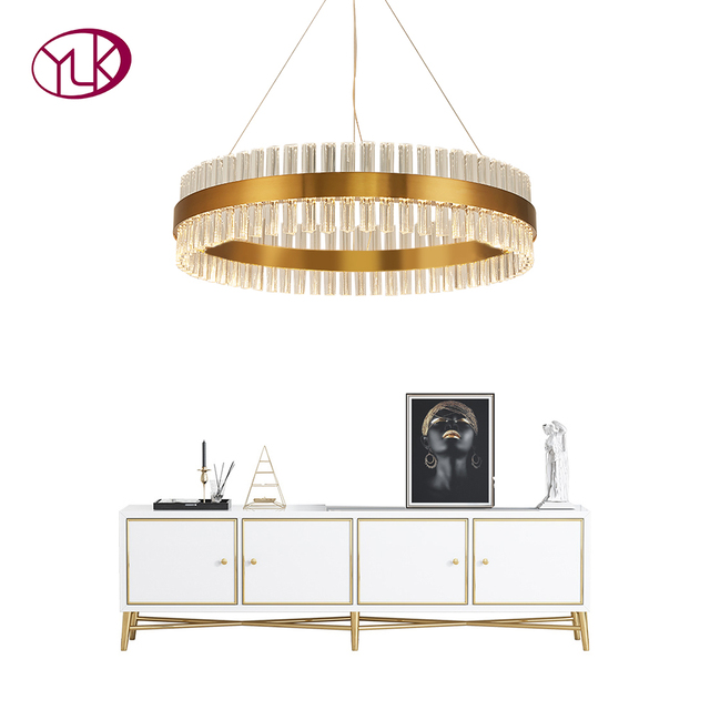 Youlaike Modern Crystal Chandelier For Living Room Gold LED Lustres De Cristal Home Decoration Hanging Lighting Fixtures