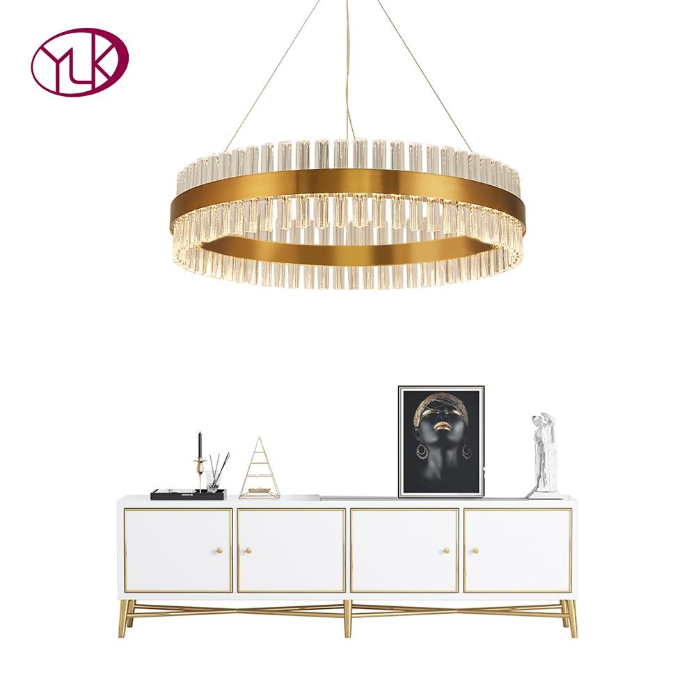 Youlaike Ouro do Candelabro de Cristal Para Sala de estar Moderna LEVOU Lustres De Cristal de Decoração Para Casa Pendurado Luminárias