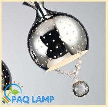 Современный подвесной светильник металла выдолбите кристалл кулон хромирование для гостиная столовая кабинет из светодиодов ight светильник