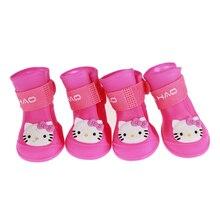 Обувь для собаки питомец водонепроницаемая обувь для дождя летние резиновые сапожки для собак портативная прочная обувь для собак, щенков, котят нескользящая обувь для кошек