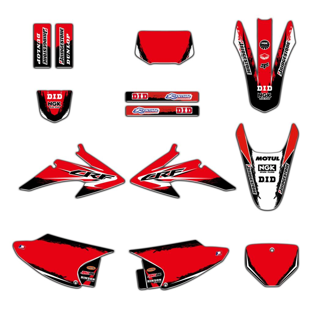 New Style TEAM Graphics Decals Sticker Deco For Honda CRF150 CRF230 CRF150F CRF230F 2008 2009 2010