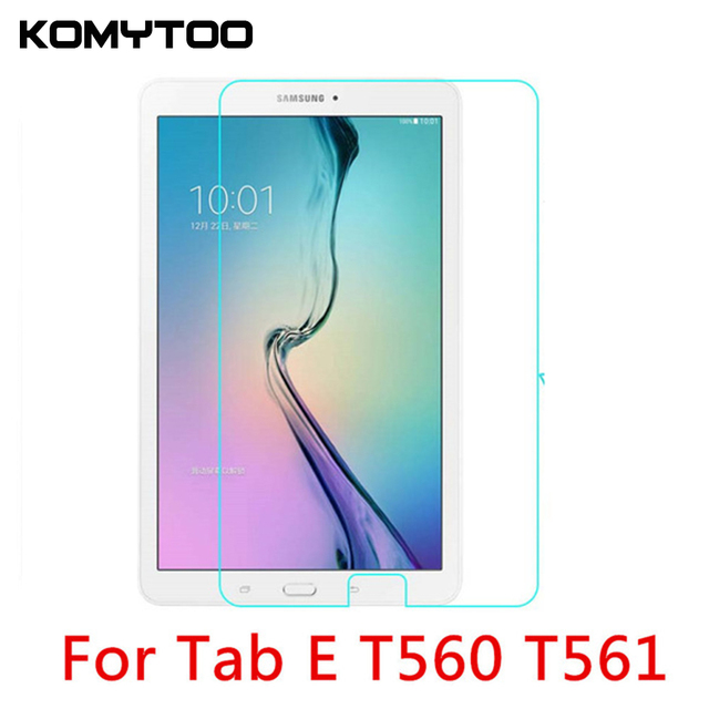"9H 2.5D 0.3mm Explosion-Proof Toughened Tempered Glass For Samsung Galaxy Tab E T560 T561 9.6"" Film Clear Screen Protect Cover"