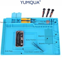 YUMQUA Mobile Phone Accessory Bundles S 160 Insulation Pad Repair Tools Magnetic Heat Resistant Soldering Mat
