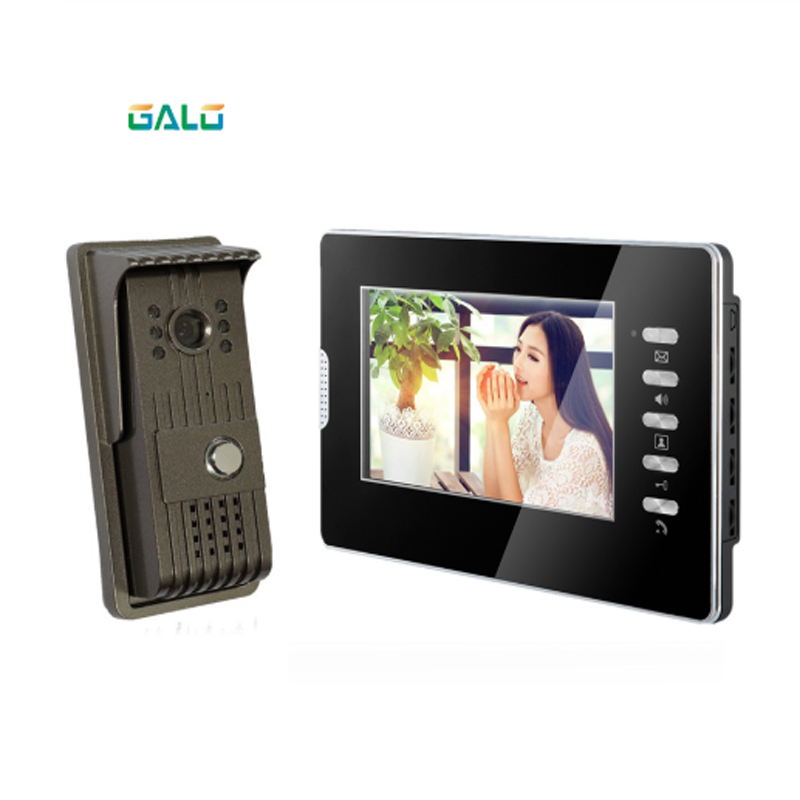 Acrylic Video Door Phone For Villa Outdoor Intercom Night Vision 7inch Indoor Monitor Doorbell Camera 1v1 Intercom System