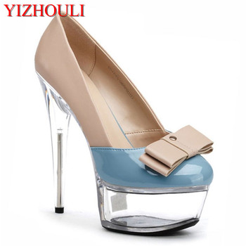 2018 15cm sexy toe white gladiator summer women's shoes, chunky high heels women in zipper wedding Dance Shoes