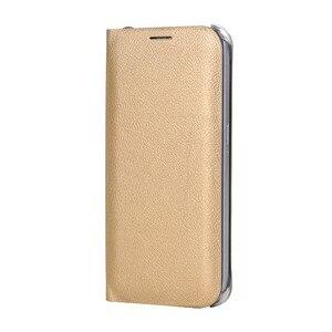 Image 1 - Virar Caso Capa De Couro Para Samsung Galaxy A7 2018 A750FD Wallet Phone Case Capa Com Suporte de Cartão de Crédito Para GalaxyA7 2018